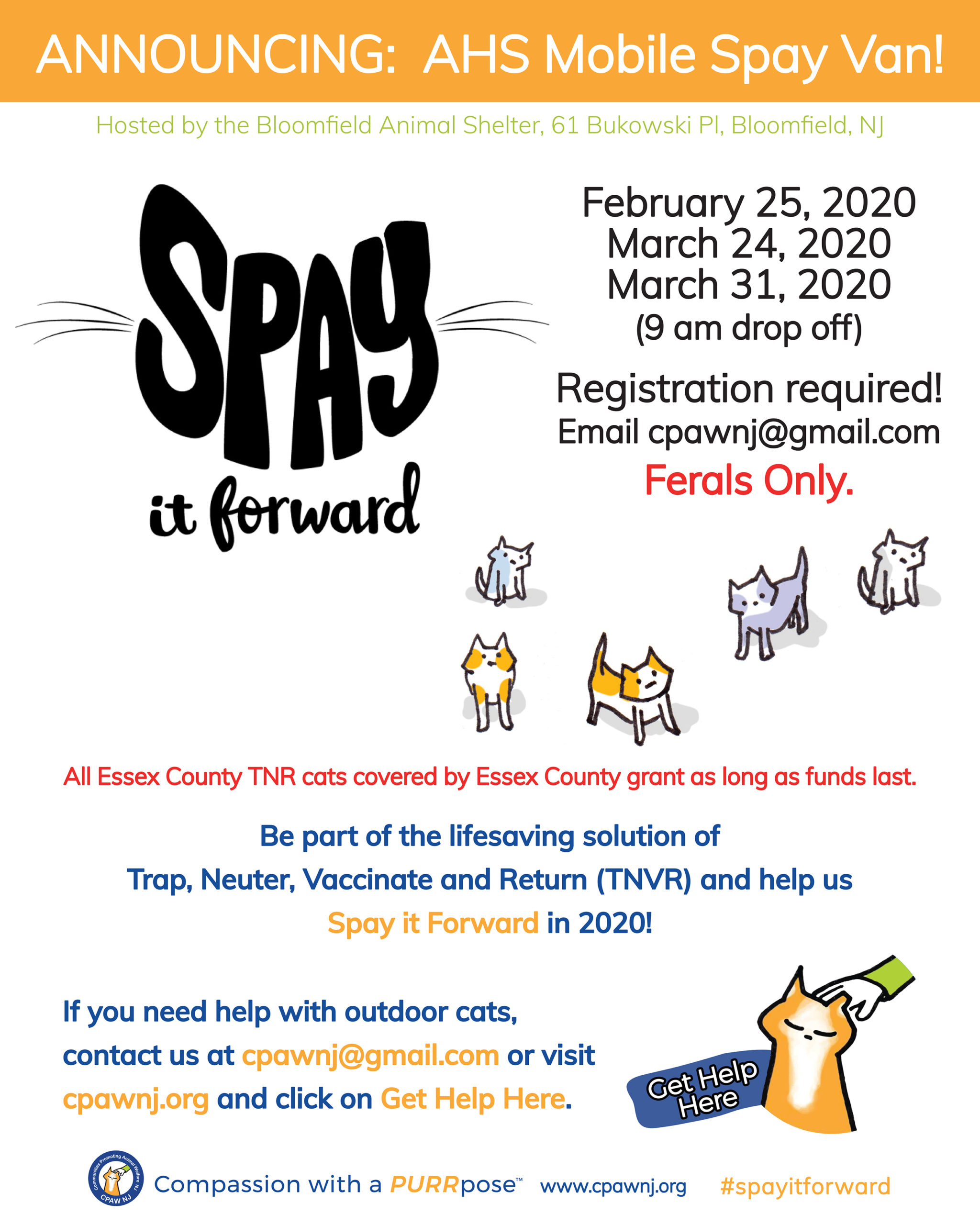 Bloomfield_Spay it Forward_February_March 2020 Spay Van